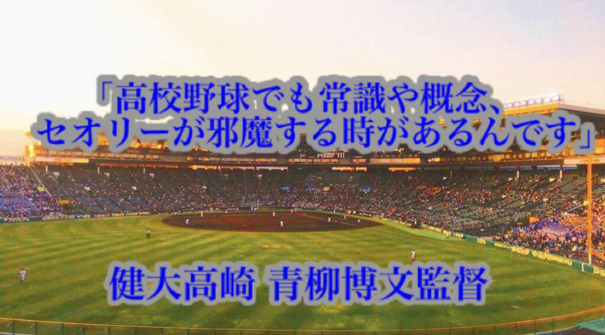 「高校野球でも常識や概念、セオリーが邪魔する時があるんです」/ 健大高崎 青柳博文監督